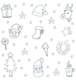 Hand draw christmas doodle backgrounds vector image