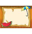 paper watermelon and umbrella vector image vector image