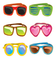 set of retro sunglasses vector image vector image