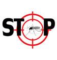 stop zika virus qnat mosquto sign vector image