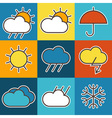 Colorful weather symbols vector image