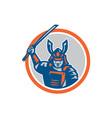 Samurai Warrior Katana Sword Circle vector image vector image