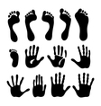 Generation hand foot print set vector image