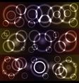 Bokeh glowing circles vector image