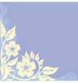 vignette floral vector image vector image