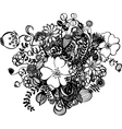 black and white flowers vector image vector image