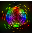 Abstract technology fantasy sphere background vector image