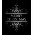 Decorative Merry Christmas inscription vector image