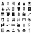 housework icons set simple style vector image