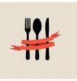 Restaurant menu template in retro style vector image