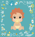 with cute baby boy vector image