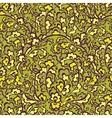 Elegant green vegetative seamless pattern vector image
