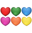 icon design of heart shape in many colors vector image vector image