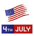 American Flag - Dirty Grunge - 4th July Symbol vector image vector image