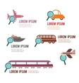 search for a perfect transportation vector image vector image