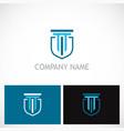 building shield company logo vector image