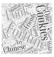 chinese fortune cookies Word Cloud Concept vector image