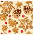 Christmas ginger seamless vector image