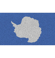 Flags Antarctica on denim texture vector image