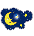 Moon flash round vector image