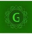 Simple Monogram G vector image