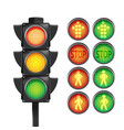 traffic light red yellow green isolate vector image