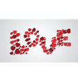 word love from hearts vector image vector image