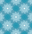 white and blue snowflake vector image vector image