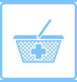 pharmacy shopping cart icon vector image