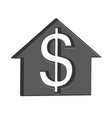 building for sale costs money vector image