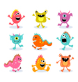 friendly little monsters set 1 vector image vector image