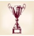 Award trophy hand drawn llustration vector image vector image