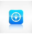 Compass web icon Application button vector image