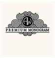 Stylish graceful monogram in Art Nouveau style vector image