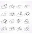 cloud services and objects icons vector image