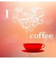 I love coffee concept vector image