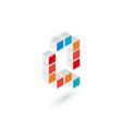 3d cube letter Q logo icon design template vector image