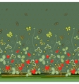 Vertical Seamless spring dark floral pattern with vector image