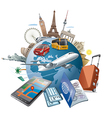 journey around the world vector image