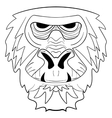 The graphic image of the monkey tattoo ink sketch vector image