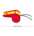 A Whistle of The Kingdom of Spain vector image
