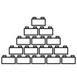 building block black color icon vector image