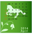 calendar 2014 april vector image