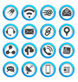 Connection and communication icons set vector image