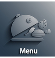 food modern background Eps10 vector image