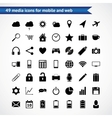 Icons for web mobile vector image vector image