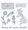 floral symbols of United Kingdom vector image