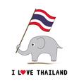 Elephant hold Thai flag1 vector image