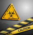 biohazard symbol and warning tape vector image