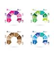colourful landmark model group vector image
